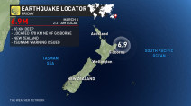 Tsunami warning briefly issued after strong quake strikes off New Zealand