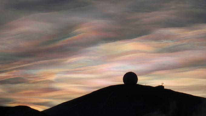 Nacreous clouds Antarctica Alan Light NSF USAP