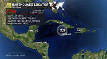 Strong quake strikes near Jamaica, felt in Miami