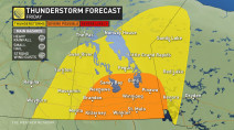 Multi-day severe thunderstorm threat targets Manitoba, northwestern Ontario