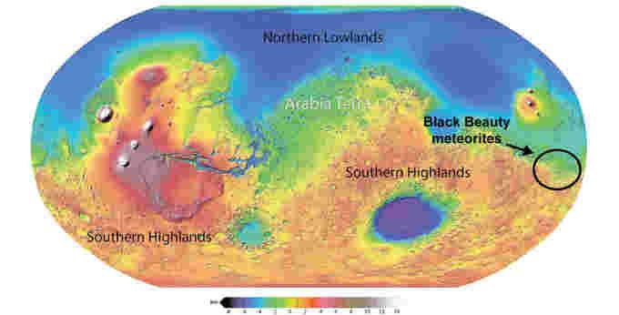Mars-MOLA-Black-Beauty-meteorites