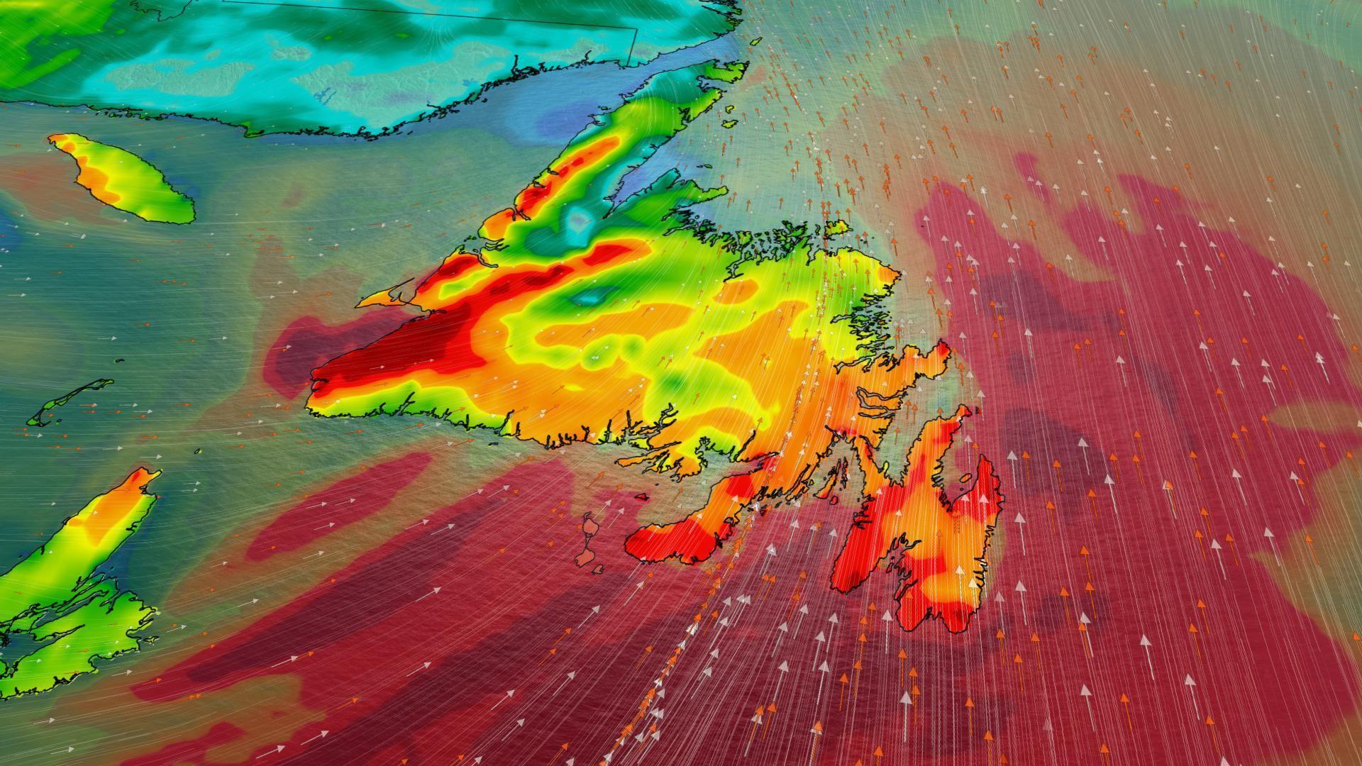 Atlantic: Heavy snow, strong winds force closures, major temp drop next