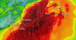 Atlantic: High-impact storm to bring downpours, 100+ km/h winds