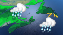 Atlantic: Soaking rains, thunderstorm risk with moisture-laden system