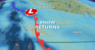 Prairies: Band of snow threatens tricky travel for Thursday