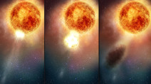 Betelgeuse dimming blamed on 'stellar sneeze', and it may be dimming again