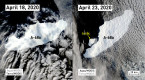 New satellite images reveal Iceberg A-68's days are numbered