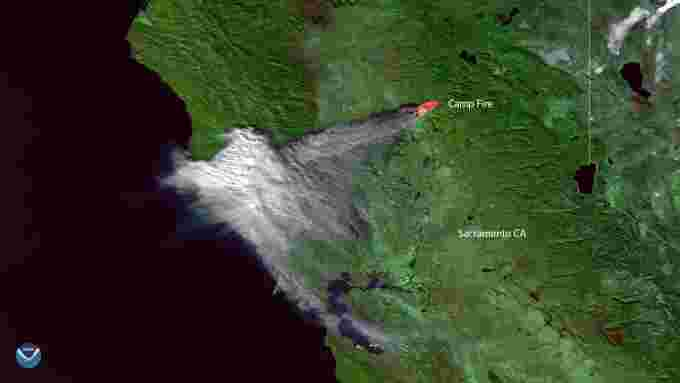 2018 California fires NASA