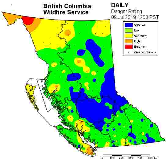 fire danger risk bc