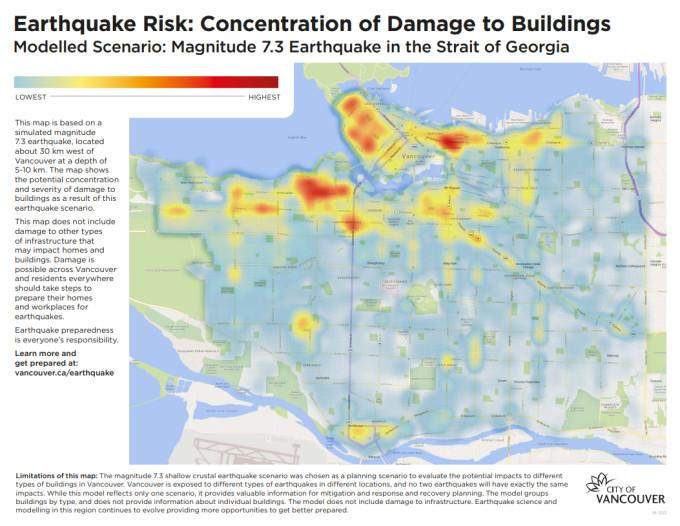 溫哥華地震地圖