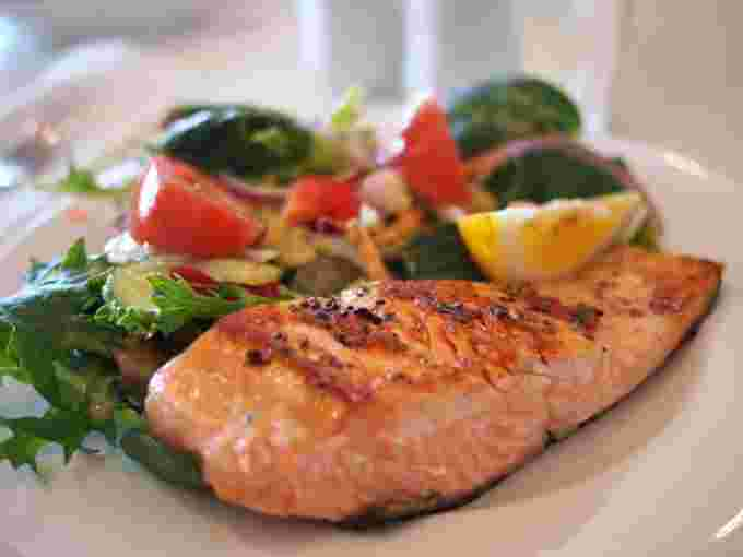 PEXELS healthy meal food fish vegetables