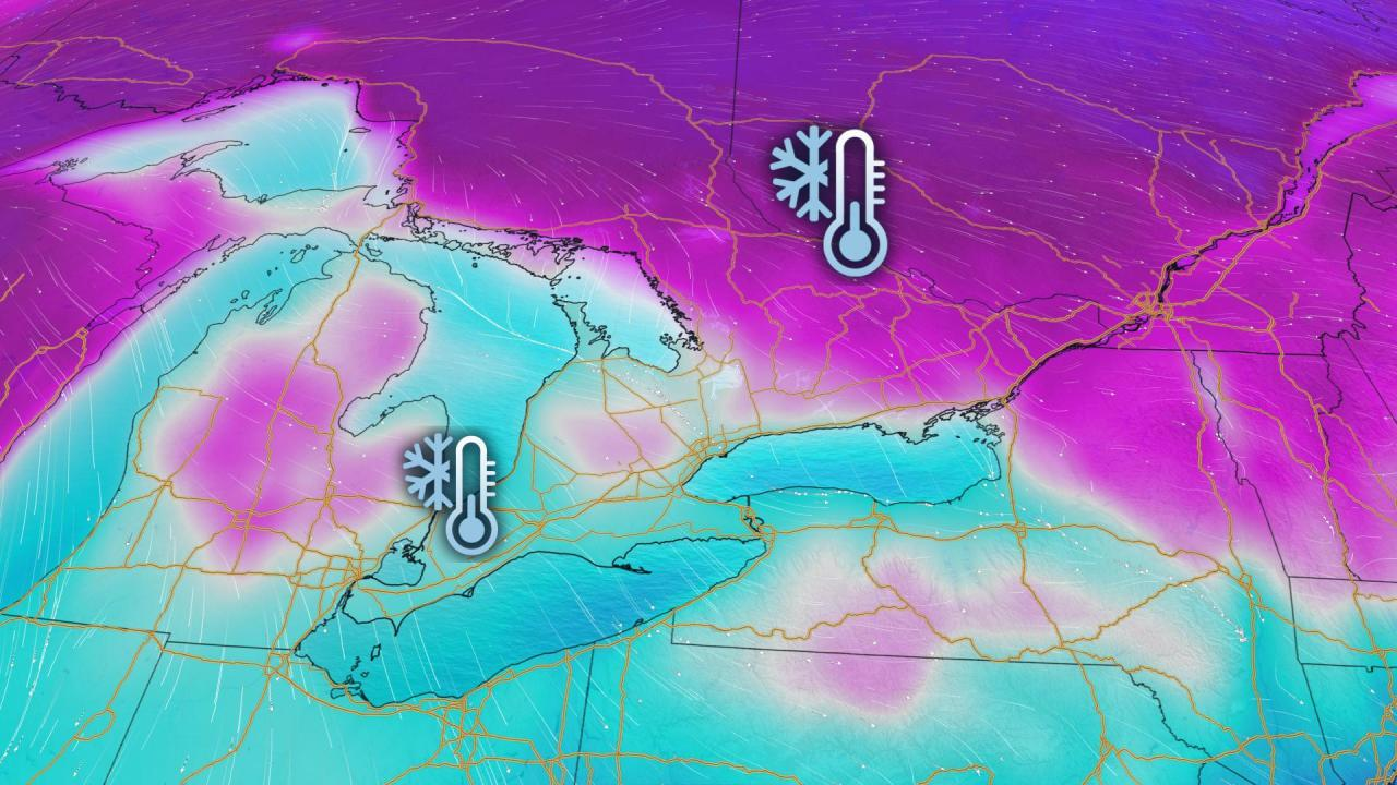 Ontario: Frigid Thursday gives way to spring-like weekend warmth