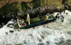 Ghost ship washes up on Irish coast during Storm Dennis