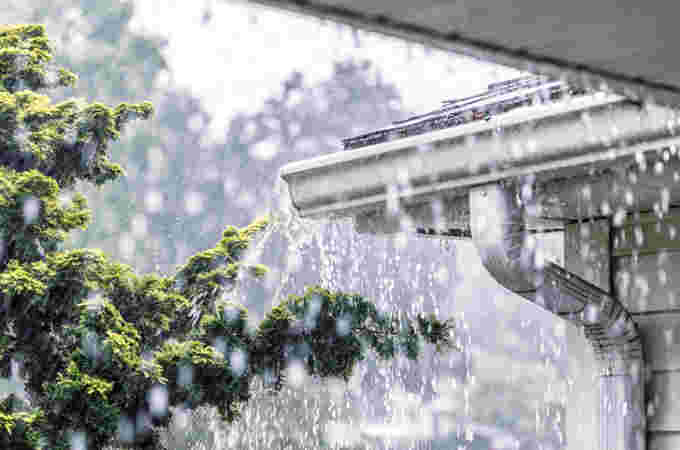 Getty flooding rain roof
