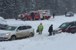 Dozens of crashes shut down Trans-Canada Highway in Alberta