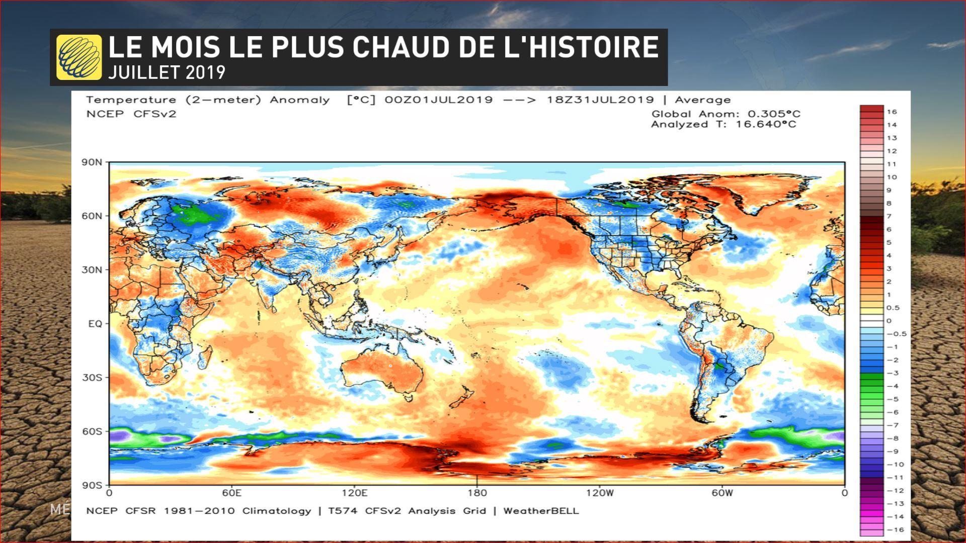 Juillet 2019, mois le plus chaud jamais mesuré