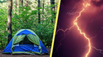 If you're camping, make sure you have a plan for severe weather