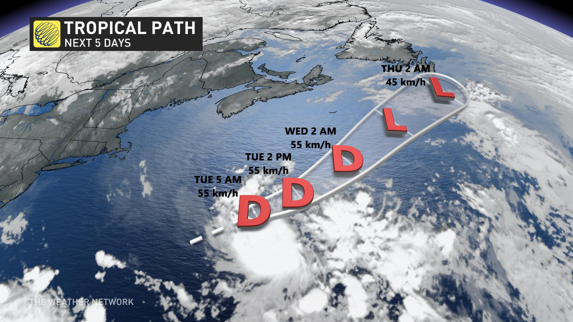 Tropical storm Dolly forms over Atlantic, but expected to remain offshore