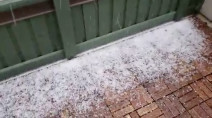 Hail, snow, across the Lower Mainland create a spectacle during daily 'cheer'