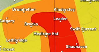 Prairies: Severe storm threat shifts east through Wednesday
