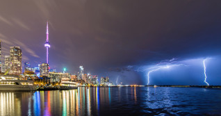 Southern Ontario cleans up after strong storms light up night sky