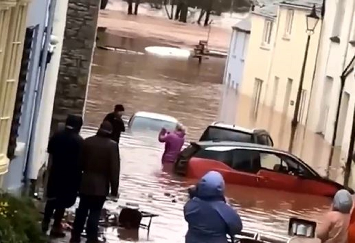 'Unprecedented' flooding as Storm Dennis dumps a month's worth of rain on Wales