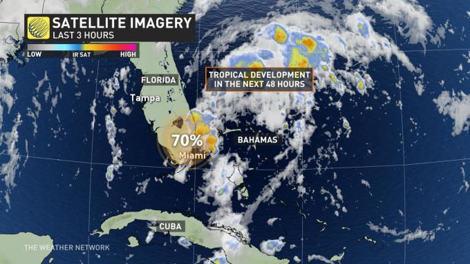 Florida Current Map.The Weather Network Tropical Storm Dorian Roars To Life Takes Aim
