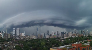 PHOTOS: Stunning rain shaft over GTA as storms track through Ontario