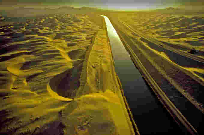 An aerial of image of the All American canal near El Centro, California. Credit:  Charles O'Rear. Corbis Documentary. Getty Images