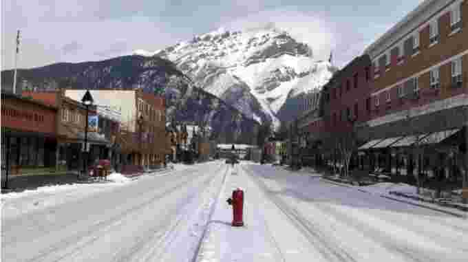 cbc: Normally bustling Banff Avenue is quiet on a Friday afternoon in April. The mountain town reliant on tourism and visitors has seen disproportionate layoffs and business closures. (Dale Einarson/Banff & Lake Louise Tourism)