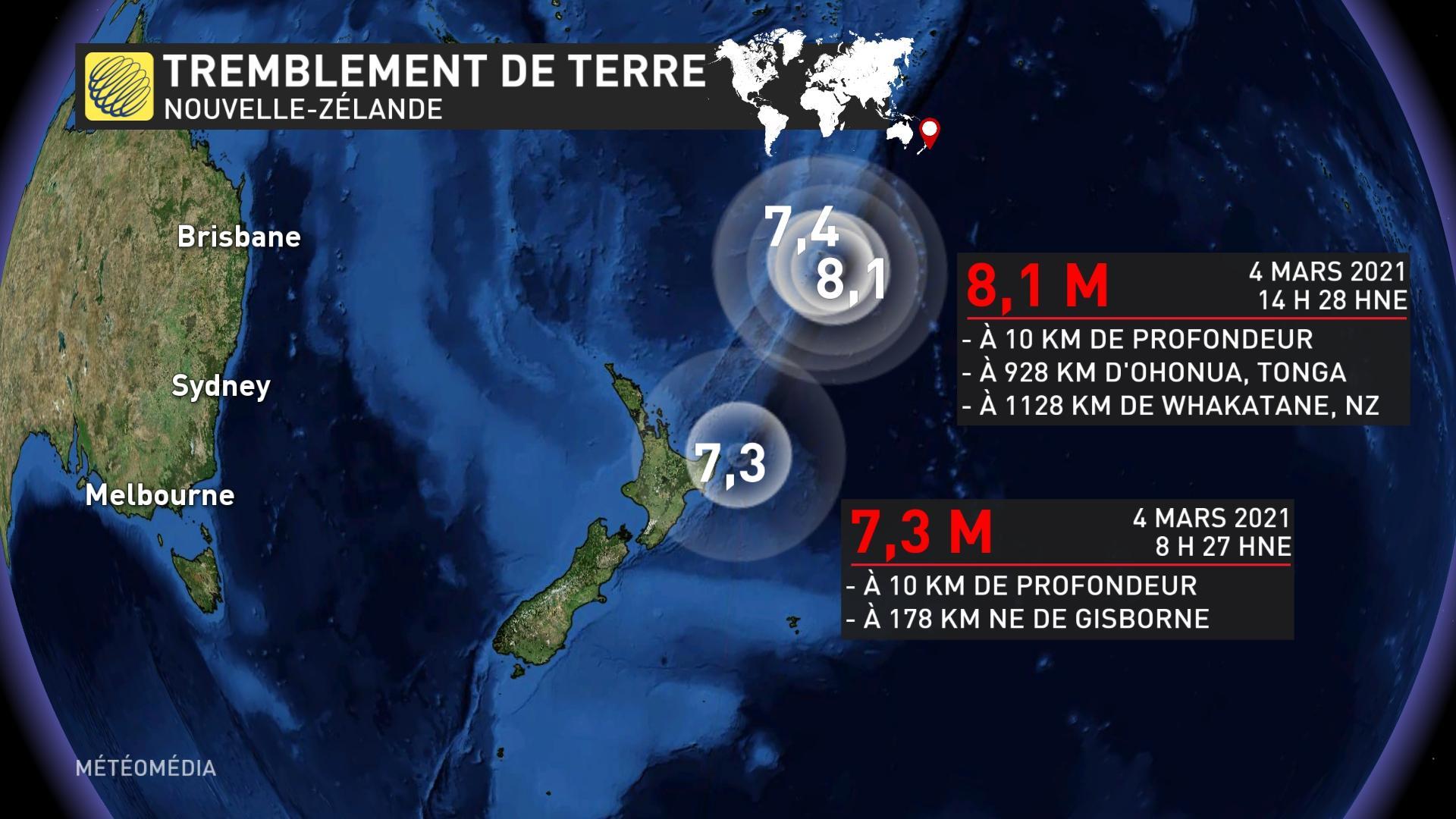 Alerte au tsunami après un séisme au large de la Nouvelle-Zélande