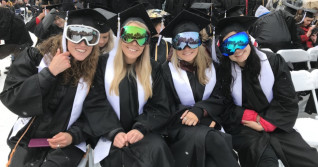 An outdoor graduation to remember, the 'SNOW-mencement' of 2019