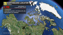 Magnitude 4.9 earthquake strikes one of Canada's most northerly communities