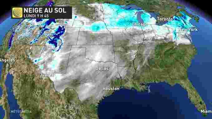 USA SNOW ON THE GROUND