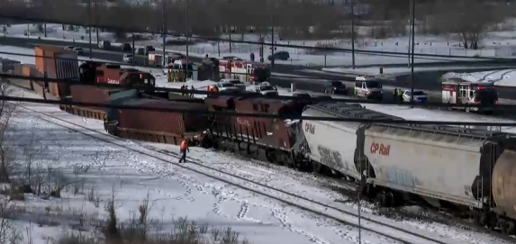 The Weather Network - Train derails in Calgary, investigation ongoing