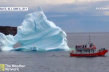 SEE IT: The moment a giant iceberg collapses near a ferry