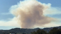 Wildfire threatens homes, prompts evacuations in L.A.
