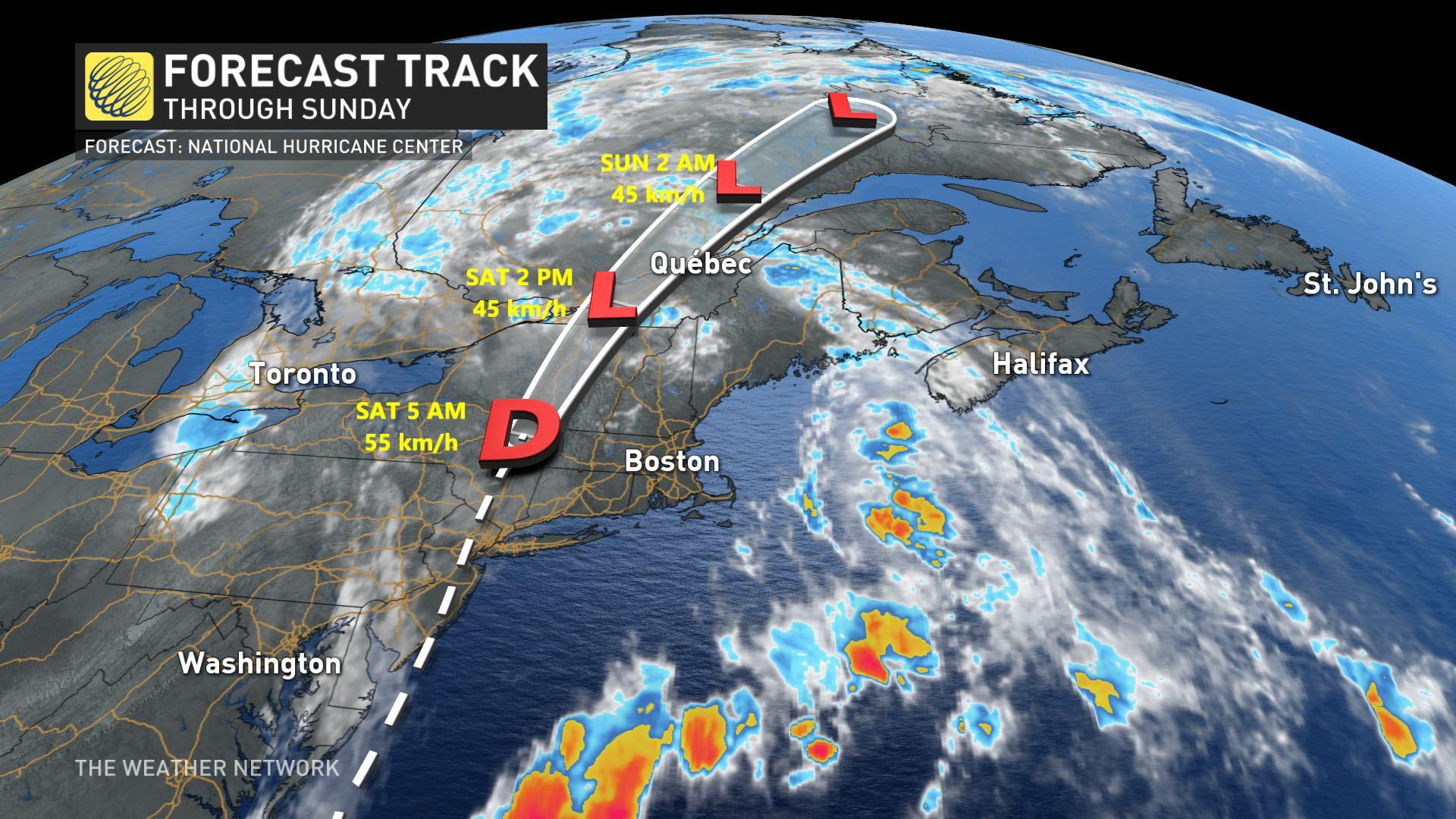 Tropical storm 'Fay' hits US