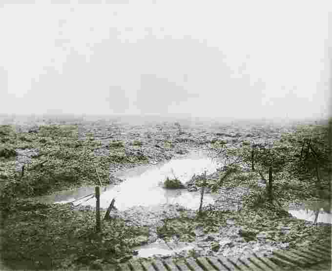 2nd battle of passchenaele mud barbed wire William Rider Wikimedia Commons
