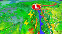 Damaging winds, pounding downpours en route to Quebec