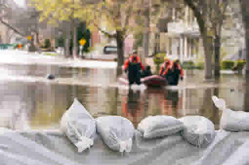 GETTY sandbags flood