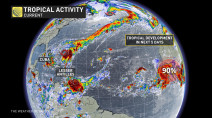 Tropical storm Karen joins Jerry, takes aim on Caribbean