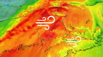 'Weather bomb' will bring 80-100 km/h winds to parts of the East Coast
