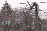 November 24, 2014 - Damaging wind leaves tens of thousands in the dark