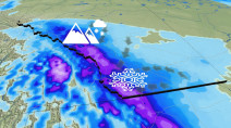 Reinforcing shot of Arctic air over Alberta, more significant weekend snow