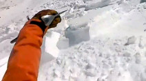 Caught on video: Snowboarder escapes avalanche unharmed