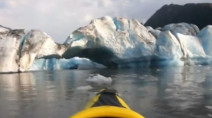 WATCH: Kayakers escape massive glacier collapse in Alaska
