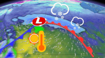 Winter-like conditions linger on the Prairies, but a rosy warmup is looming
