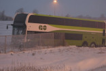GO bus sails off 407, lands in farmer's field