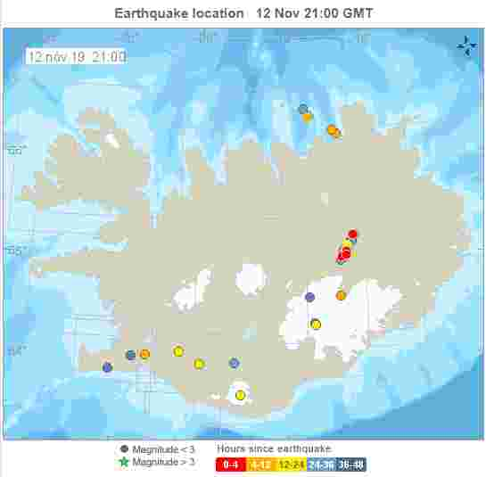 earthquakes iceland courtesy iceland met office